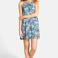Junior Women's Everly Floral Print Shift Dress,