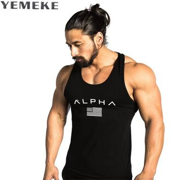 Men Summer  bodybuilding Hooded Tank Top fashion men Cross fit clothing Loose breathable sleeveless shirts Vest