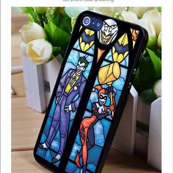 Joker and Harley Quinn Glass iPhone for 4 5 5c 6 Plus Case, Samsung Galaxy for S3 S4 S5 Note 3 4 Case, iPod for 4 5 Case, HtC One for M7 M8 and Nexus Case