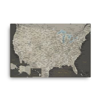 USA Push Pin Travel Map With 1,000 Pins