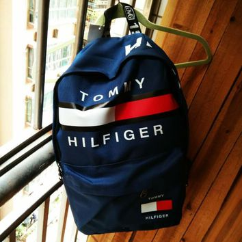 TOMMY HILFIGER: Casual Sport Laptop Bag Shoulder School Bag Backpack H