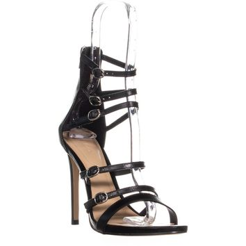 Aldo Nandra Strappy Sandals, Black Leather, 8 US / 38.5 EU
