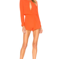 by the way. Tamara Open Front Romper in Poppy