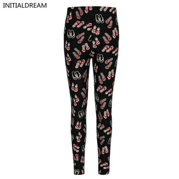 high quality sexy leggings women 2017 Floral Print Leggings stretch pants female wint