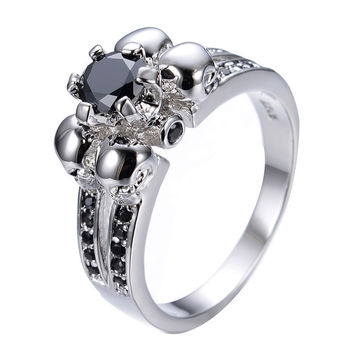 Nightmare - Crystal Ring - Silver