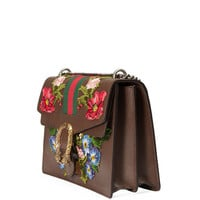 Gucci Dionysus Floral Embroidered Shoulder Bag, Gray/Multi