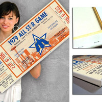 1979 All-Star Game Canvas Mega Ticket - Seattle Mariners (Host)