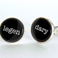 Legendary Cufflinks, How I Met Your Mother Cufflinks, Novelty Cufflinks, Gifts for Men, HIMYM, Graduation Gift