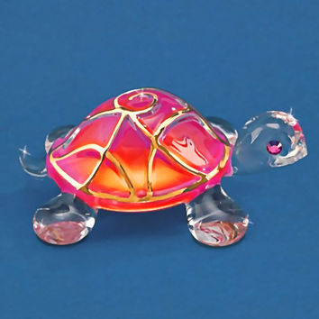 """Turtle Max Reptile Gifts :: - Turtles, Sea Turtles :: Turtle Collectibles and Figurines :: """"Sunrise"""" Glass Turtle"""