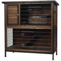 Super Pet Rabbit Hutch 2-Story Extra Large Outdoor Cage