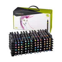 Prismacolor Premier Double-Ended Art Markers Fine and Brush Tip 72 Pack