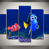 5 Panel Finding Dory Canvas Wall Art