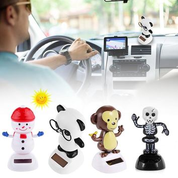 Novelty Solar Toy Powered Dancing Flip Flap Car Home Desk Dancer Bobble Toys For Children Solar Toy Power Energy Figure Toys