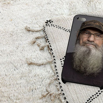 Si Robertson Duck Dynasty iPhone 5 iPhone 4 / 4S Plastic Hard Case Soft Rubber Case