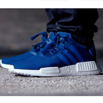 """Adidas"" Women Fashion Trending Running Sports NMD Shoes Blue"