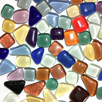 Mosaic tiles | Glass tiles | Mosaic tiles | Mosaic craft | Decorative mosaic | Gems stone | Mix 100g (approx. 55pcs) #46