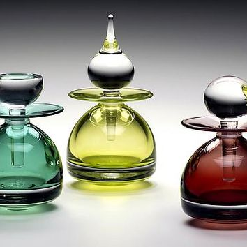 Pawn Series Perfume Bottles by Michael Trimpol Monique LaJeunesse: Art Glass Perfume Bottle | Artful Home