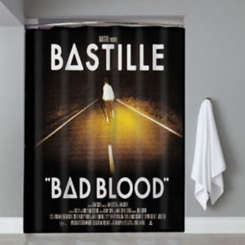 New Bastille Bad Blood Top Famous Band Custom Shower Curtain Limited Edition