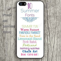 summer fonts colorful iphone 6 6 plus iPhone 5 5S 5C case Samsung S3, S4,S5 case, Ipod touch Silicone Rubber Case Phone cover Waterproof