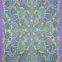 Sunshine Joy 3D Kaleidoscope Paisley Tapestry Tablecloth Beach Sheet 60x90 Inches - Purple/Blue/Green