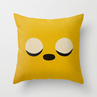 Minimalist Adventure Time Jake Throw Pillow by lalalaokay