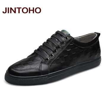 Men Shoes Black Men Casual Shoes Genuine Leather Flats Shoes