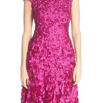 Theia Beaded Appliqué Fit & Flare Dress | Nordstrom