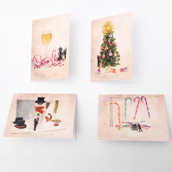 Greeting cards with envelopes, Stationery, Christmas Cards, funny christmas card,seasons greetings, Sets of greeting cards, 6x4(10x15cm)