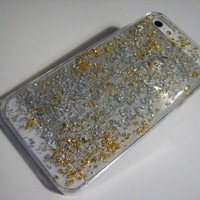 iPhone 6 iPhone 5 iphone 4/4s cover  case  Iphone Cover Accessories Cell Phone gold 24K & silver 925 flakes