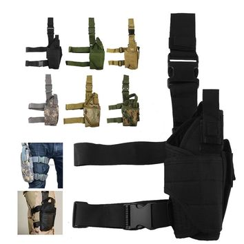 2018 Tactical Pistol Holster Drop Leg Thigh Mag Pouch Right Hand Outdoor Pouch with Adjustable Magic Strap 31-0009