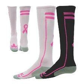 RIBBON EXCEL Breast Cancer Awareness Athletic Socks