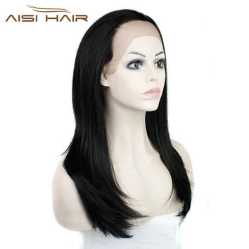 body wave synthetic  front wigs heat resistant glueless lace wig women
