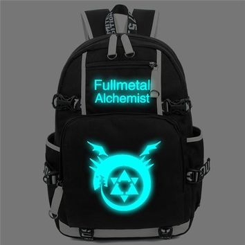 Anime Backpack School 2018 new kawaii cute Fullmetal Alchemist Backpack Men Women Notebook Computer Travel Shoulder Bag Teenage Girl Backpacks Mochila AT_60_4