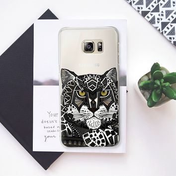 snow leopard transparent Samsung Galaxy S6 Edge+ case by Sharon Turner | Casetify