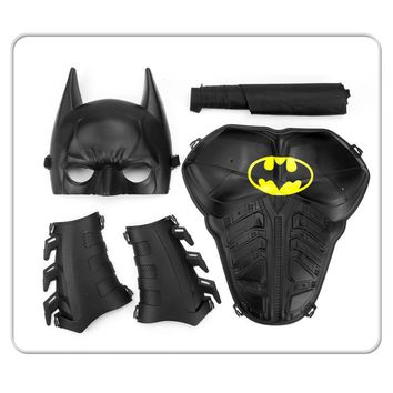 Batman Dark Knight gift Christmas Batman Costumes Children Cospaly Cloak Mask Armor Suit Props Heroes Clothing For Kids AT_71_6