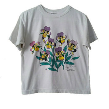 RARE Petal Pets T-Shirt • 1988 Chimp Pansy's Petal Pets Shirt • Vintage 80s T-Shirt • Size SMALL • Hipster Clothing Graphic Tee