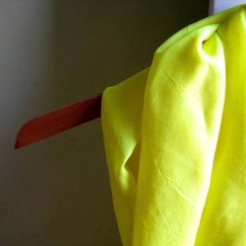 hand dyed silk infinity scarf - neon yellow