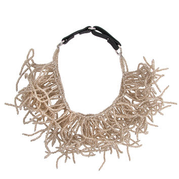 Brunello Cucinelli Large Beaded Coral Necklace
