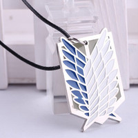 Anime Attack on Titan Pendant Necklace Cosplay Necklace Women Leather Necklaces & Pendants For Women Men Fashion Jewelry