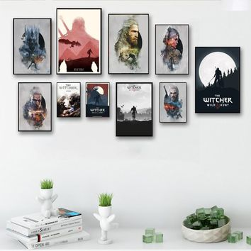 The Witcher 3 Hunting Wild Game Wall Art Wall Decor Silk Prints Art Poster Paintings For Living Room