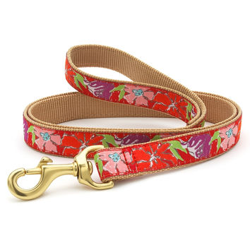 Red Blossom Dog Leash