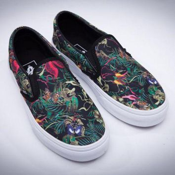 DCCKNQ2 vans slip on old skool print flats shoes sneakers sport shoes