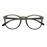 Womens Mens Fashion Metal Top Clear Lens Eyeglasses Frames W1970