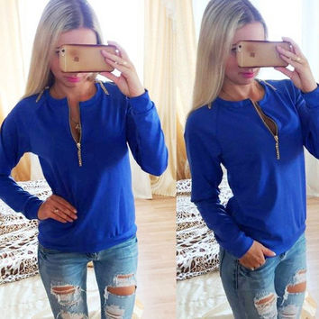 2016 new spring autumn women's sweatshirts fleece pullover loose sequins V neck hoodies tee women causal hoodies