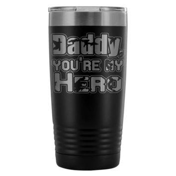 Father Insulated Coffee Travel Mug Daddy My Hero 20oz Stainless Steel Tumbler