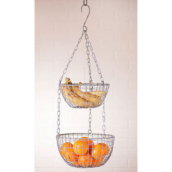 General Store 2 Round Wire Hanging Baskets Rustic Primitive Farmhouse