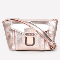 bebe Womens Interlocking Logo Bag