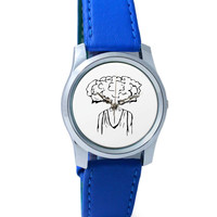 Mind Blown Illustration Wrist Watch