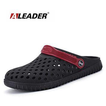 Aleader EVA Crocus Clogs Men Slip On Garden Shoes Lightweight Beach Sandals For Men Casual Water Slippers Yeez Men Shoes