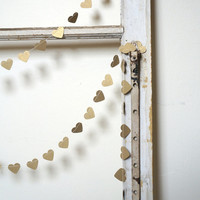 Heart of Gold paper garland antique gold